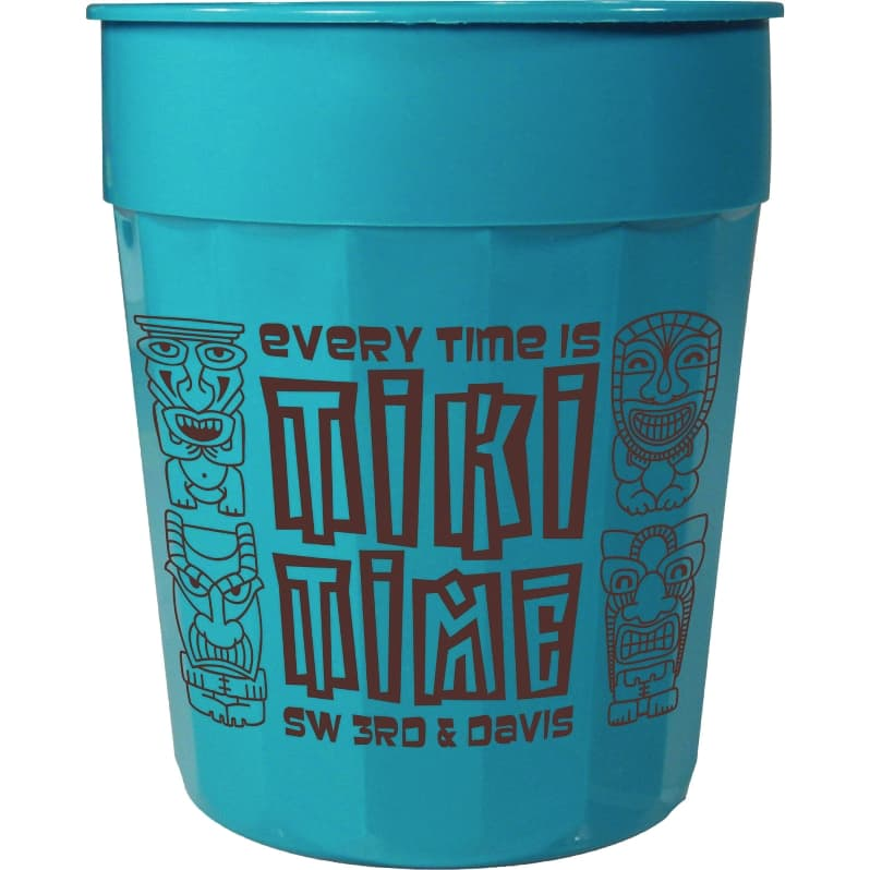 Custom Cups 24 Oz Fluted Plastic Cup