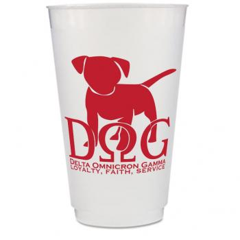 Custom Frosted Plastic Cup - 20 oz