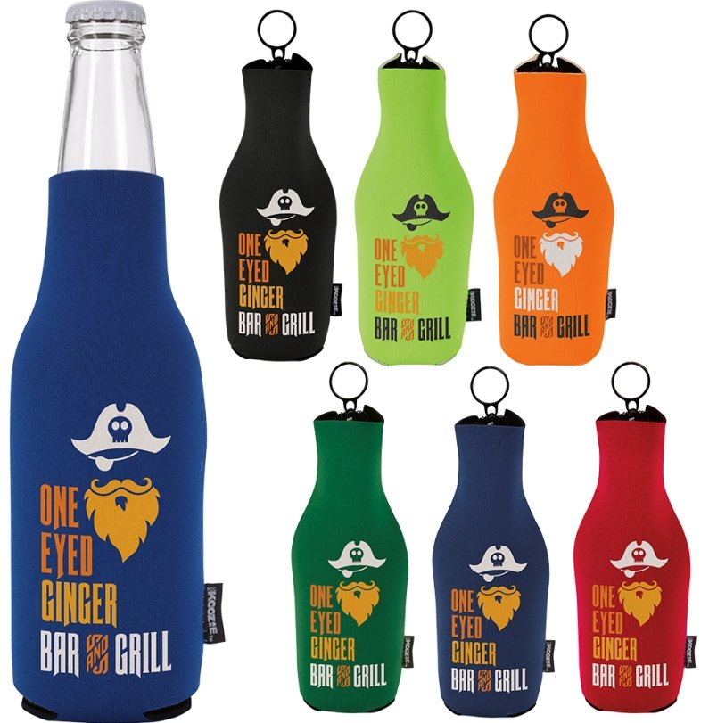 Koozies - Neoprene Zip Up Bottle Koozie