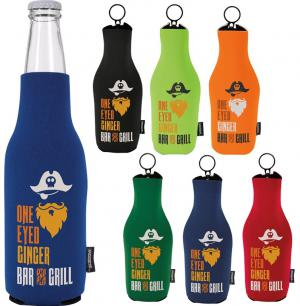 Neoprene Zip Up Bottle Koozies