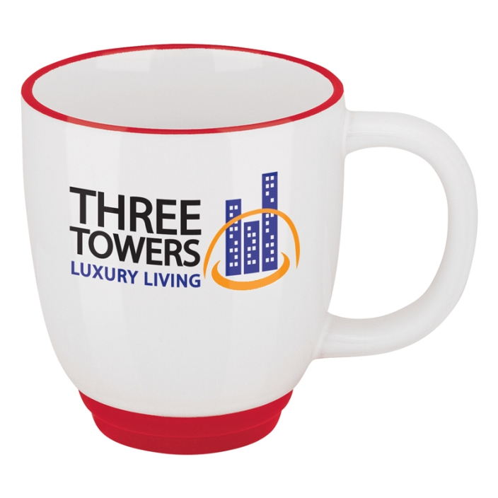 Logo Coffee Mug-12 oz. Two Tone Bistro