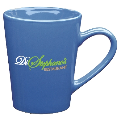 13 oz Sausalito Ironstone Ceramic Coffee Mugs Blue Colors Image
