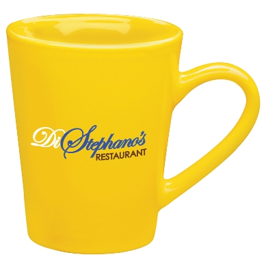 13 oz Sausalito Ironstone Ceramic Coffee Mugs Yellow Colors Image