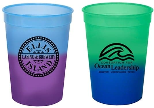 Two Color Changing Stadium Cup Colors