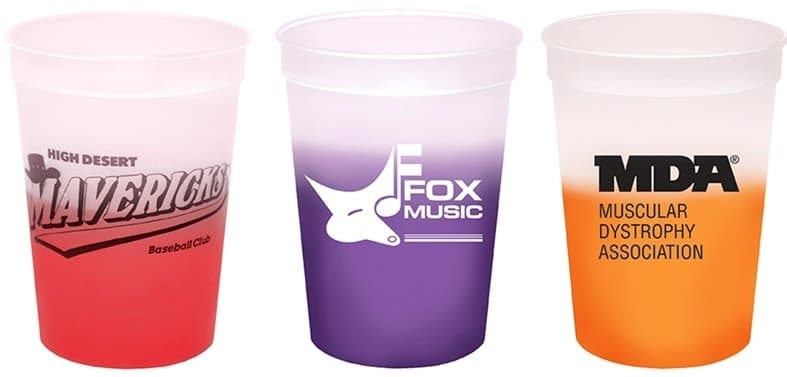 Three Color Changing Stadium Cup Colors