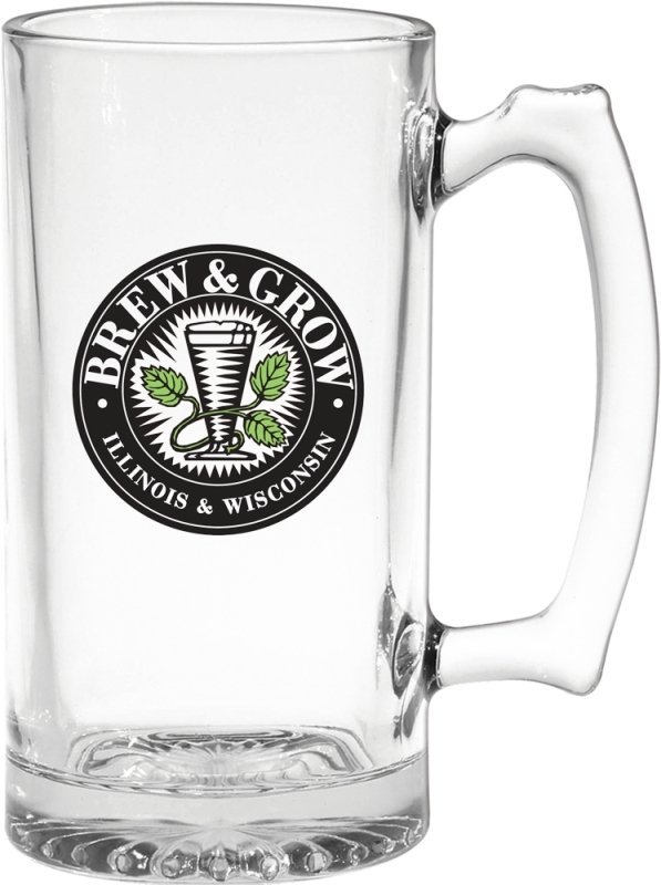 Glassware-Extra Large Glass Beer Mug