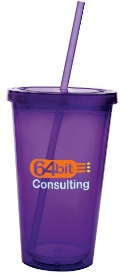 Purple Acrylic Tumbler