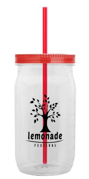 Red Lid - Straw Tumbler