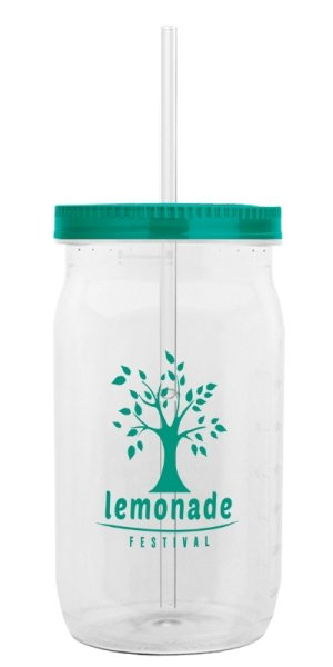 Teal Lid - Straw Tumbler