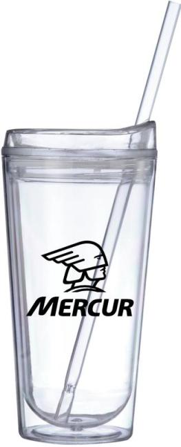 Clear Straw Tumbler