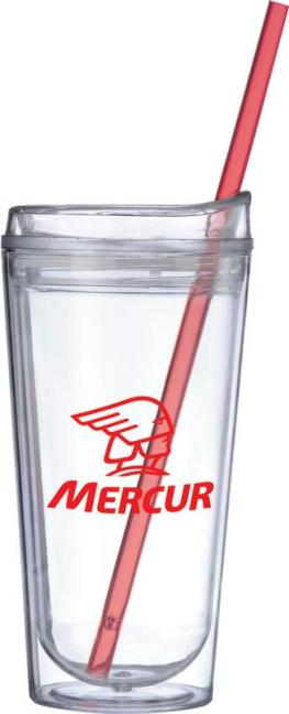 Red Straw Tumbler