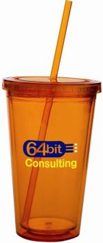 18 oz Premium Colored Acrylic Tumbler Lid - Straw