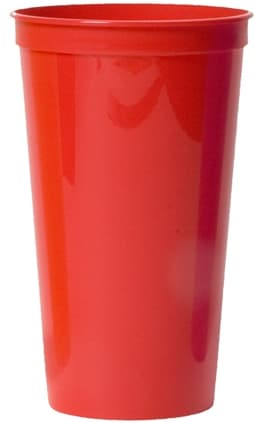 Red Large Custom Stadium Cup Color