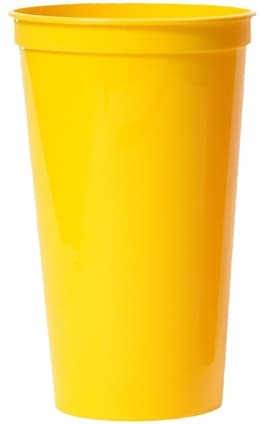 Yellow Large Custom Stadium Cup Color