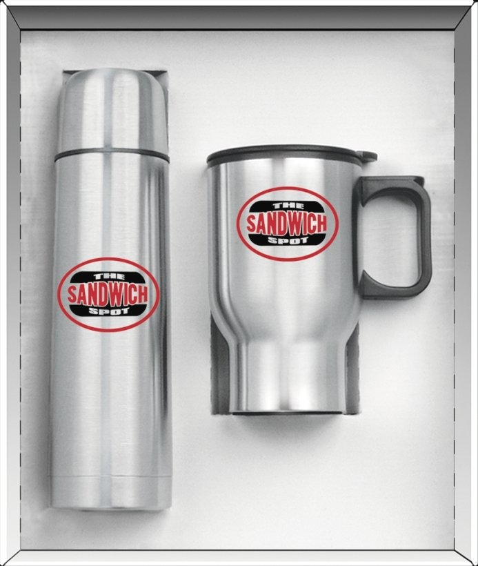 Stainless Steel-16 oz. Thermos & Mug Gift Set