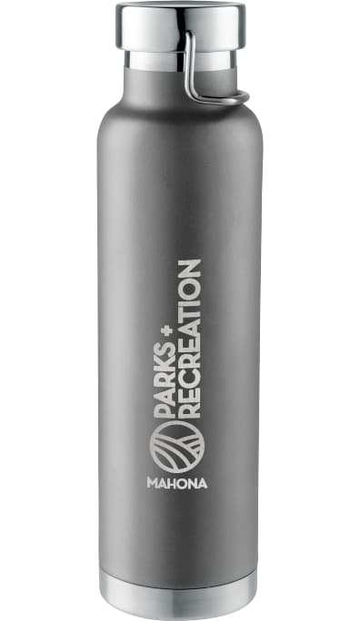 Gray 22 oz Stainless Steel Custom Vacuum Bottle Colors
