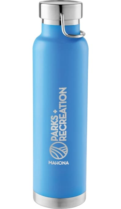 Process Blue 22 oz Stainless Steel Custom Vacuum Bottle Colors
