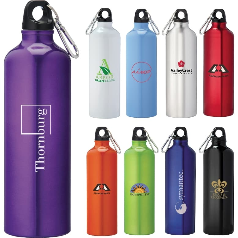 26 oz Aluminum Custom Water Bottle Colors