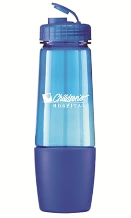 Trans Blue Promo Water Bottle Colors