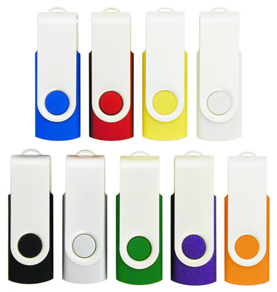 Promotional Swivel Flash Drives Colors Image