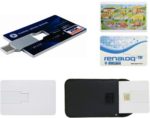 Promotional Flash Drive-Credit Card 2 GB