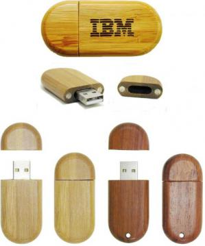 Wood Case Flash Drives Image