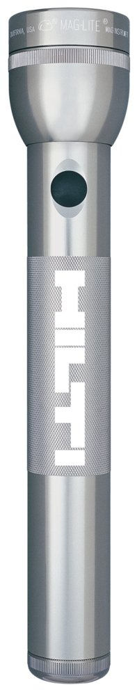 Silver - Gray Maglite 3 D LED Flashlight Engraved