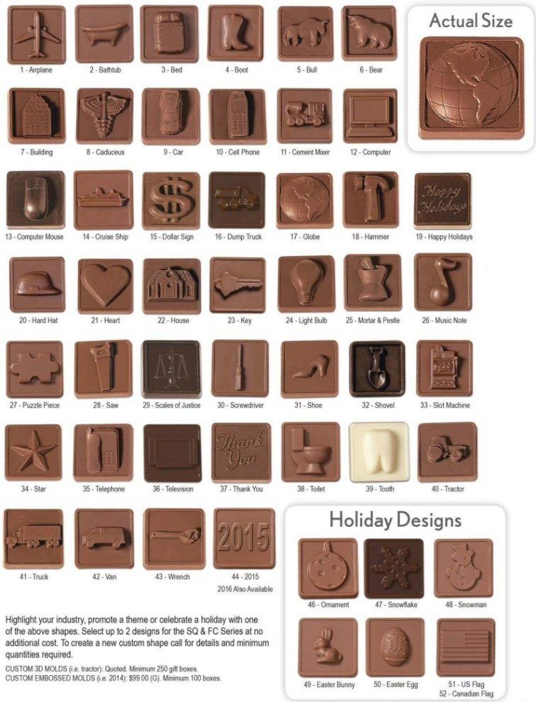 Chocolate Themed Designs One Image