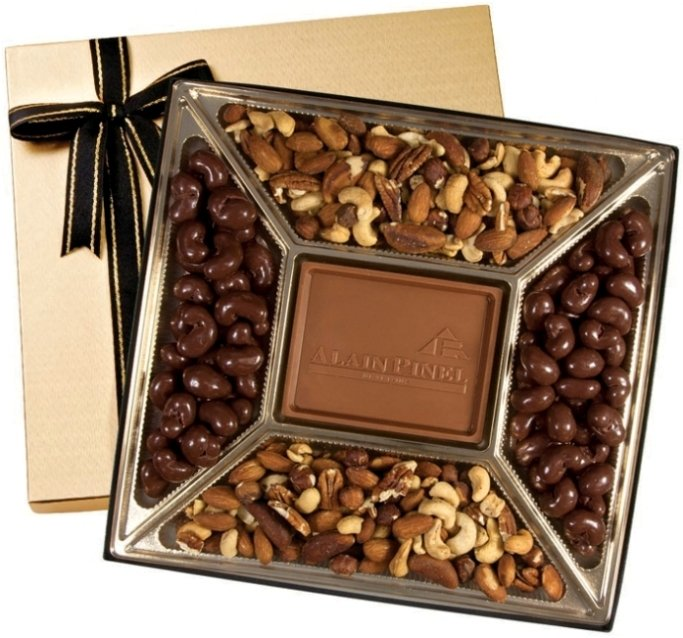 Chocolate Gifts-Deluxe Chocolate & Nuts 20 oz.