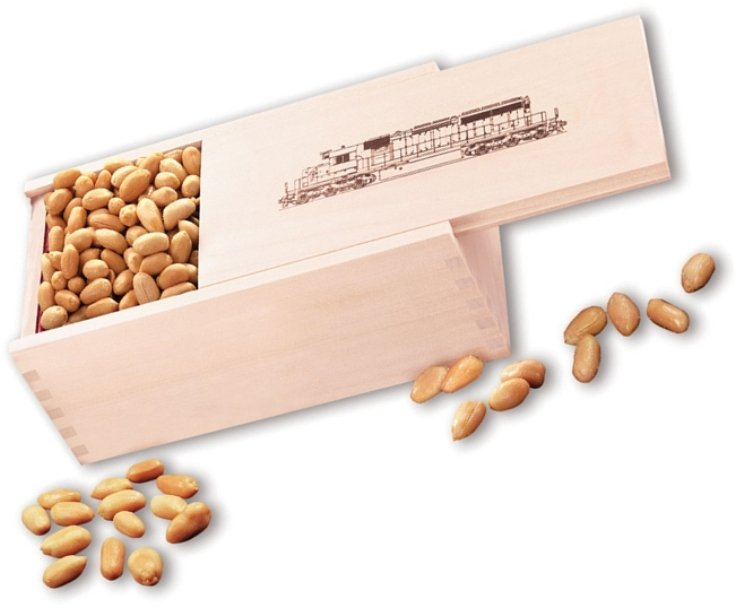 Business Gift Wood Box Peanuts