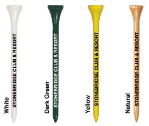 Tall Golf Tee Colors Image