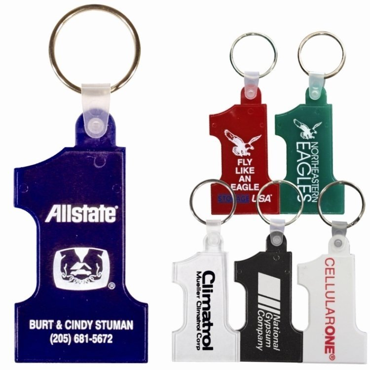 Big Number One Keychain Colors