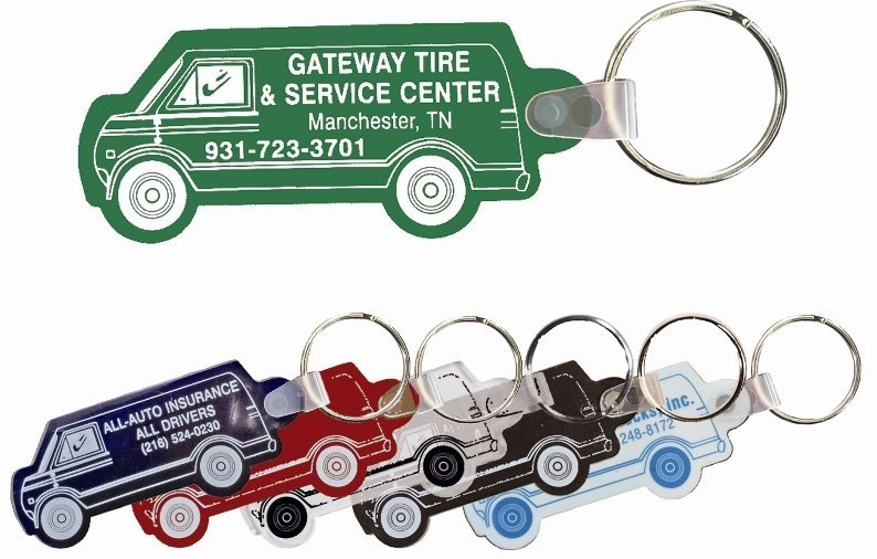 Delivery Van Keychain Colors