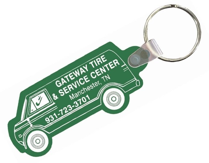 Delivery Van Key Chain