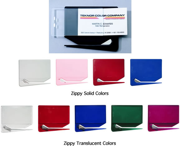 Zippy Business Card Letter Openers Colors Image