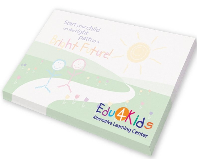 Post it Note Pad-3 x 4 Full Color