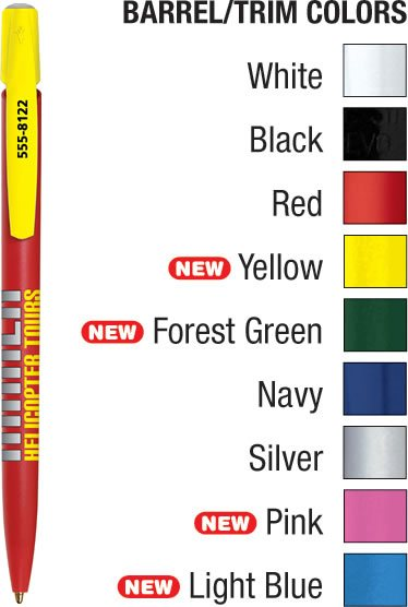 Bic Media Clic Pen Colors