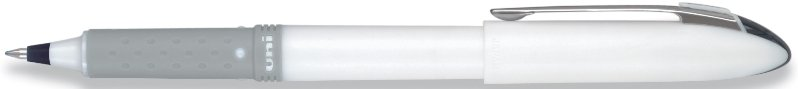 Uniball Grip Fine White Pen Black Ink with Logo
