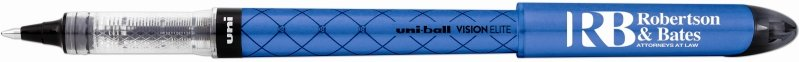 Uniball Vision Elite Designer Blue Pen with Logo