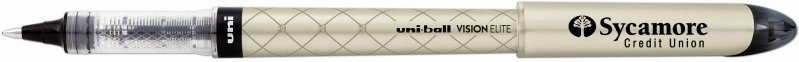 Uniball Vision Elite Designer Gold Pen with Logo