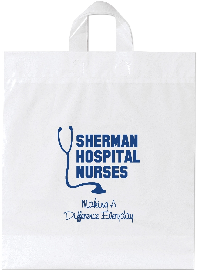 Promotional Plastic Bag-16 x 18 x 6 Soft Loop Handle