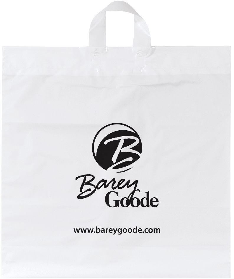 Promotional Plastic Bag-20 x 20 x 6 Soft Loop Handle