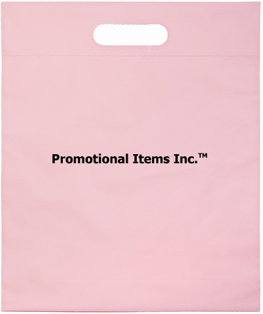 Promotional Plastic Bag-12 x 15 x 3 Die Cut Handle