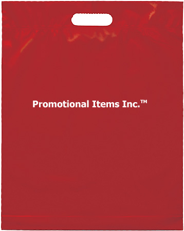 Promotional Plastic Bag-15 x 19 x 3 Die Cut Handle