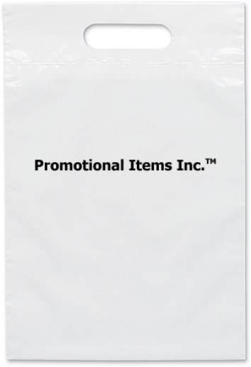 Promotional Plastic Bag-9 1/2 x 14 Die Cut Handle