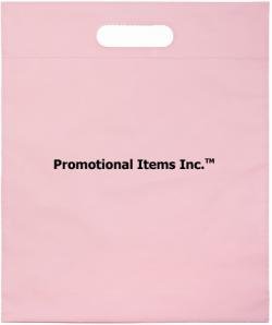 Promotional Plastic Bag Image-12 x 15 x 3 Die Cut Handle Bag