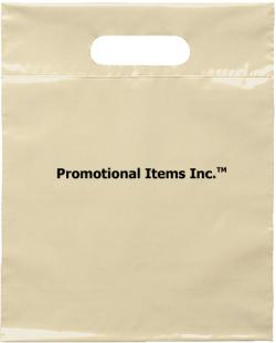Promotional Plastic Bag Image-9 1/2 x 12 Die Cut Handle