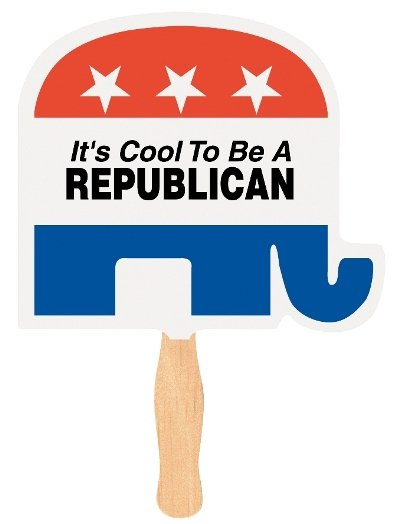 Political Fan Republican Elephant Imprinted Image