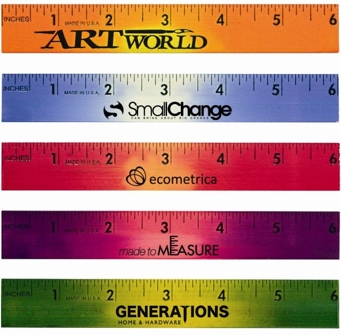 Ruler-6 Inch Mood Colored Wood