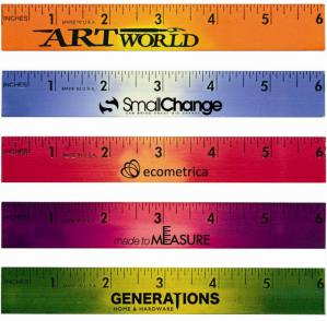 Mood Six Inch Wood Promotional Rulers Image